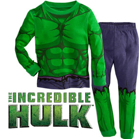 Pijama Niños Hulk Tipo Disfraz Gratis Obsequio