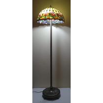 Lindo Abajur Pedestal Coluna Tiffany Cod 062z