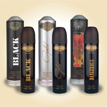 Kit Perfume Cuba Prime Dangerous + Gold + Black 100ml Edp