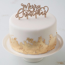 Feliz Navidad Cake Topper Fiesta Pastel Año Nuevo Decoracion