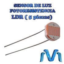 Sensor De Luz Ldr, Fotoresistencia, Luminosidad (5 Piezas)