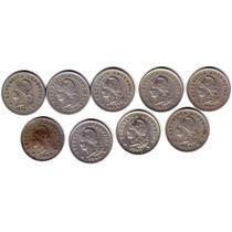 9 Monedas De Diez Centavos. Cuproniquel. Oferta.