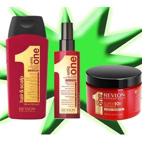 Kit Uniq One Revlon 150ml + Shampoo 300ml + Mascara 300ml