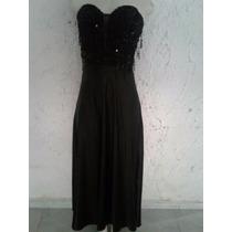 Vestido Negro Elegante Strapless Marca Andartu