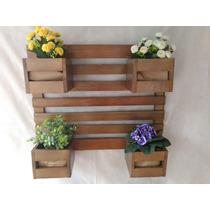 Suporte Vertical Flores Planta Em Madeira 4 Vasos Moveis 157