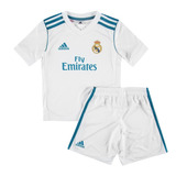 Conjunto Del Real Madrid Titular Niños 2017-2018 adidas