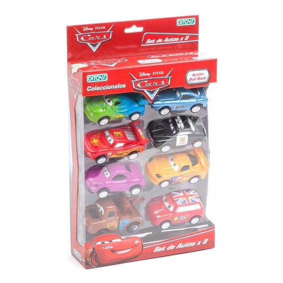 Cars Autos Set De 8 Autitos Pull Back Original Ditoys