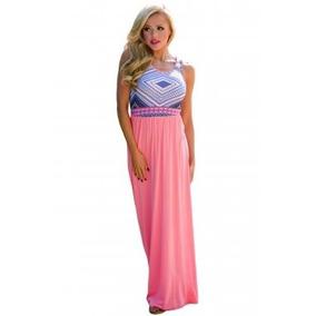 Vestidos largos de color salmon
