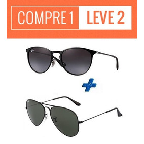 e6f5b62857a0b Oculos Ray Ban Aviador Compre 1 Leve 2 - Óculos De Sol no Mercado ...