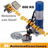 Kit Motor Cortina Metálica 600kg Botonera Con Llave Garantia