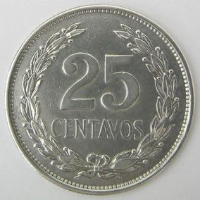 El Salvador Moneda 25 Centavos 1943 Plata 0.900 Excelente ++