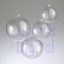 10 Esfera Bola Acrílico 6,5 Cm * Natal - Lembrancinha *