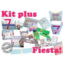 Kit1 Invitaciones Cajas Recuerdo Fiesta Mesa Dulce Etiquetas