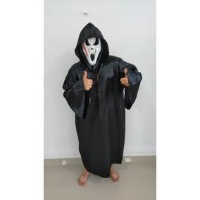 Fantasia Pânico - Capa E Máscara Adulto, Halloween
