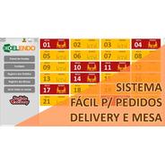 Planilha Sistema De Pedidos Delivery E Mesa Simples E Fácil