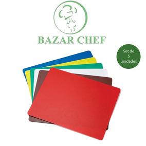 Tabla De Picar Corte Color 30x40 Cm Set X5 - Bazar Chef