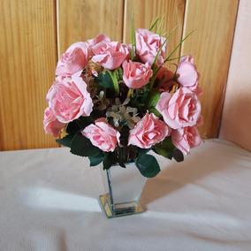 Arranjo De Flores Artificiais - Decoração - Tam 23x18