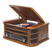 Toca Discos New Opera Vitrola Fm Cd K7 Bluetooth Grava Raveo