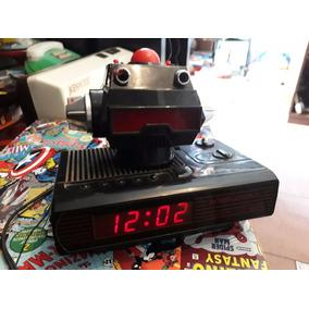 Robot Led Rojo Reloj Radio Retro 80s Increible Solo Deco!