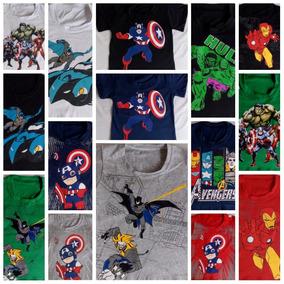 Kit Atacado 10 Camiseta Infantil Herois Menino Personagens.