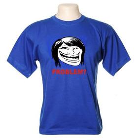 Camiseta Meme Troll Face Girl - Frete Gratis