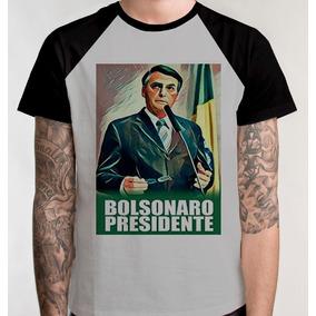 Kit 10 Camisetas Raglan Presidente Camisa Blusa Bolsonaro