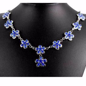 Collar De Zafiro Azul Natural No Subasta