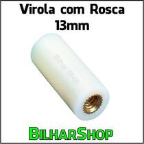 Virola Com Rosca 13mm Para Taco Sinuca Bilhar Snooker Sola