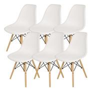 Sillas X 6 Comedor Plastico Patas Madera Diseño Eames Cuotas