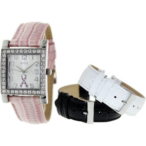 Guess Womens U0032l2 2013 Sparkling Pink Watch Set