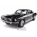 Ford Mustang Gta 1967 Fastback Clasico Muscle - Maisto 1/18