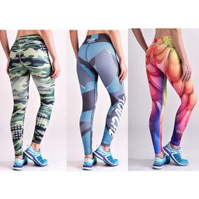 Pack X3 Calza Deportiva Touche Crossfit Sport Legging