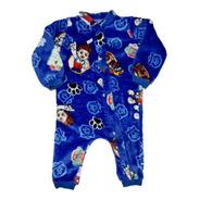 Pijama Inverno Macacão Fleece Soft Bebê Quentinho Menino