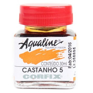 3x Aqualine Aquarela Líquida Aerograf Corfix 30ml - Castanho