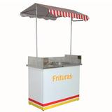 Barraca Buffet Frituras Desmontável Vidro E Prateleira 3035