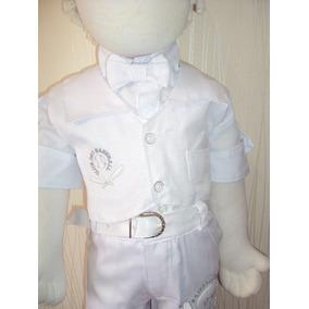 Conjunto Infantil Masculino Bebê Para Batizado Branco