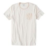 Camiseta Abercrombie Masculina  Short-sleeve Bolso Orig. Eua