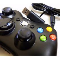 Controle Xbox 360 Console E Computador Pc Com Fio Joystick