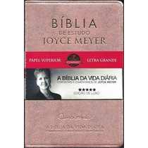 Bíblia De Estudo Joyce Meyer Letra Grande Luxo Rosa