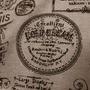 Tecido Estilo Jornal, Letras, Retro Vintage Linho Flame