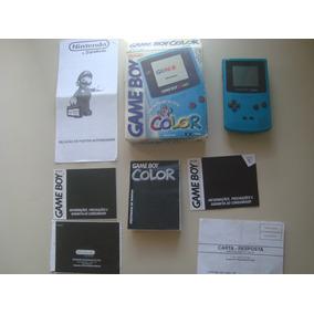 Game Boy Color C/ Caixa E Acessórios