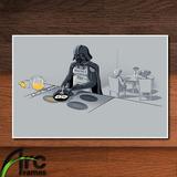 Quadro Decorativo - Mdf - Darth Vader Na Cozinha