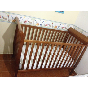Cuna Para Bebe Convertible Importada Madera 3en1 Beybi Usado
