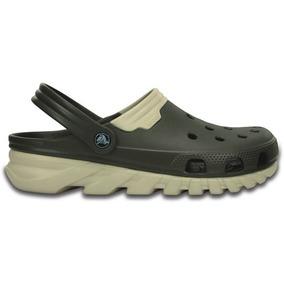 Zapato Crocs Dama Duet Max Clog Verde Olivo