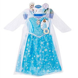 Fantasia Elsa Frozen Infantil Disney Com Som E Luz Original