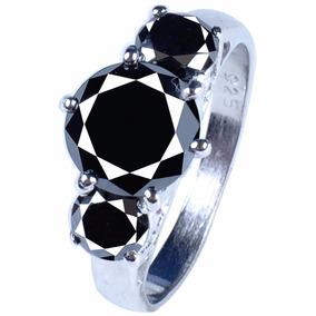 Anillo Con Diamante Negro Certificado 2.78qt #7