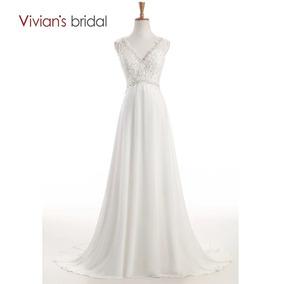 Vestido De Noiva Simples Com Alça - Tamanho 34-36