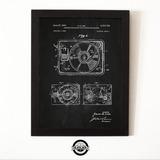 Cuadro Marco Madera 30x40 Tocadiscos Patent Regalo Deco