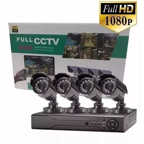 Kit Seguridad Dvr Full Hd 4 Camaras Hd Exterior / Interior