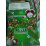 Luces De Navidad 100 Led Rojas,azules,fucsia